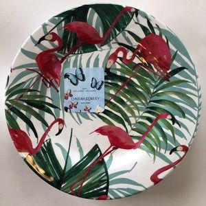 "Cynthia Rowley Melamine 11"" Dinner Plates set of 4"